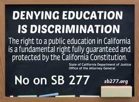 Education Rights Issue SB 277